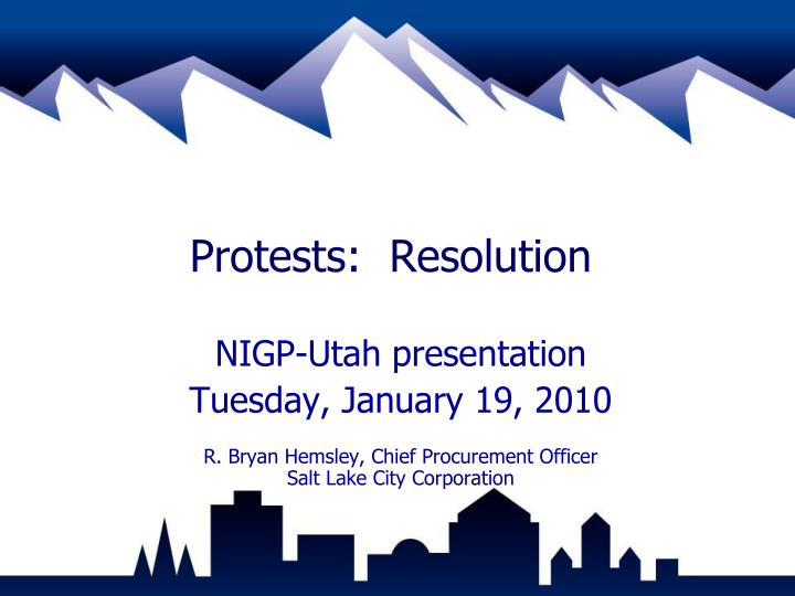 protests resolution n.