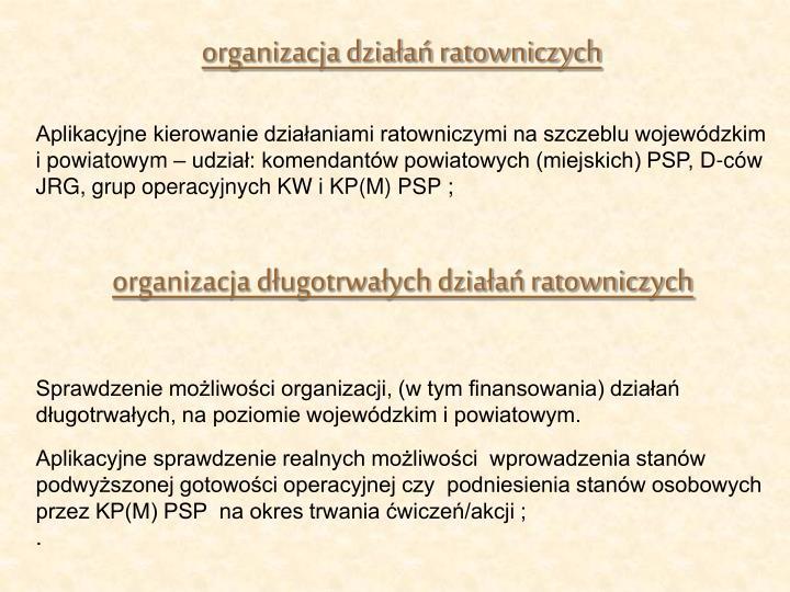 organizacja działań ratowniczych