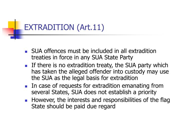 EXTRADITION (Art.11)