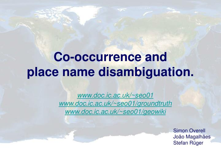 Co-occurrence and