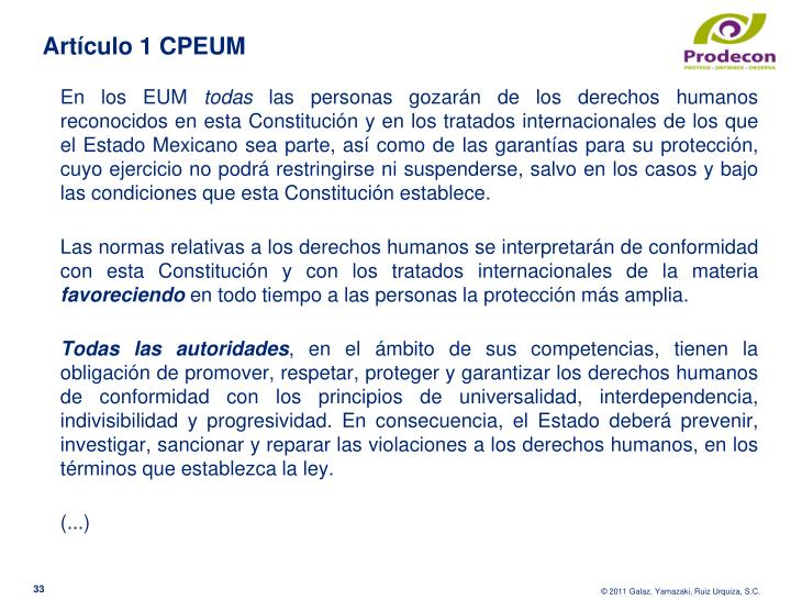 Artículo 1 CPEUM