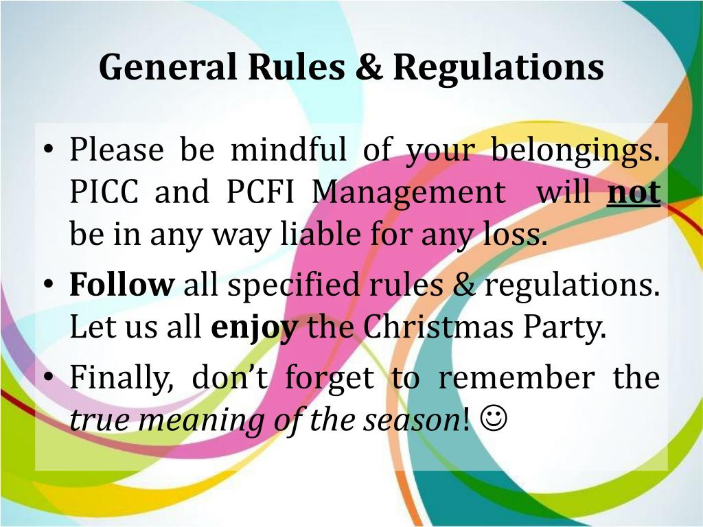 PPT - Corporate Christmas Party 2013 Frequently Asked Questions