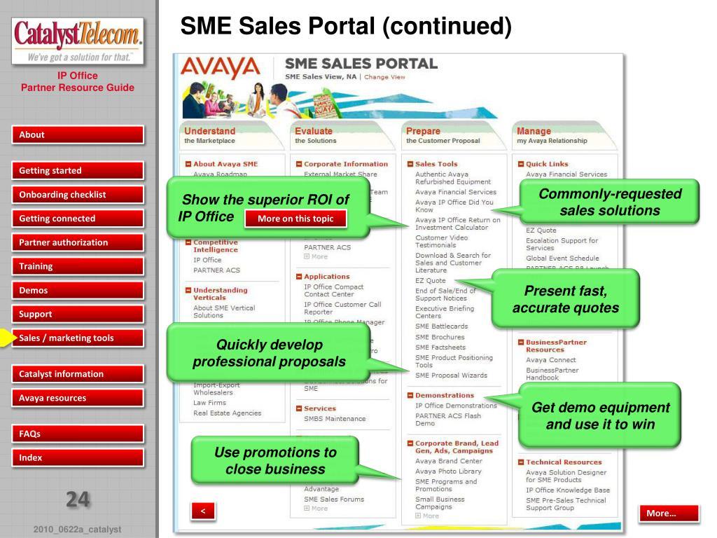 PPT - Avaya IP Office Partner Resource Guide PowerPoint