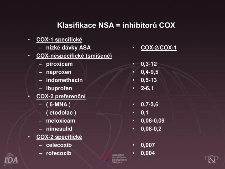 COX-1 specifické