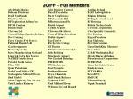 joiff full members
