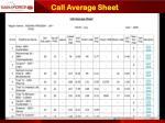 call average sheet