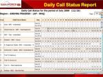 daily call status report
