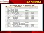 tour plan status