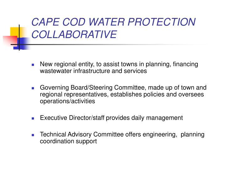 CAPE COD WATER PROTECTION COLLABORATIVE