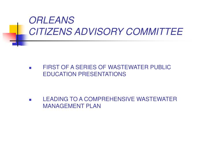 Orleans citizens advisory committee1