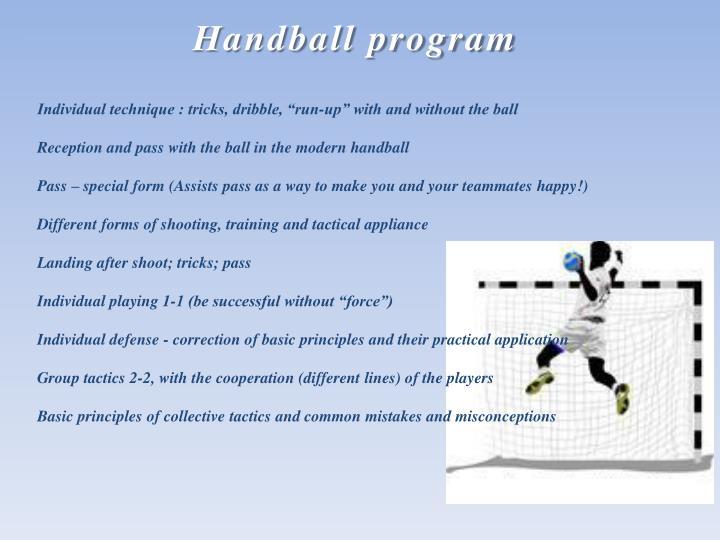 Handball program