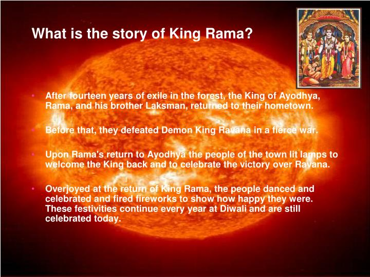 What is the story of King Rama?