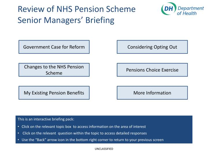 Nhs Pension Opt Out >> Ppt Review Of Nhs Pension Scheme Senior Managers Briefing