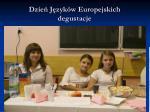 dzie j zyk w europejskich degustacje