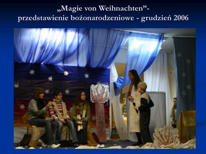 """""""Magie von Weihnachten""""-"""