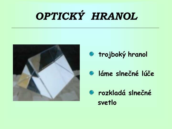 Optick hranol