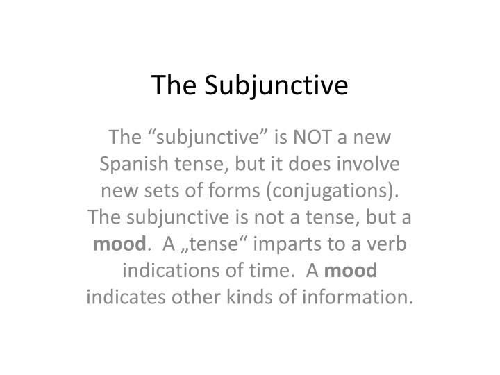 the subjunctive n.