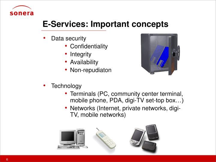 E-Services: Important concepts