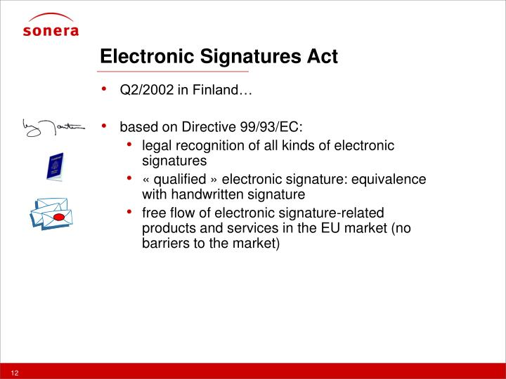 Electronic Signatures Act