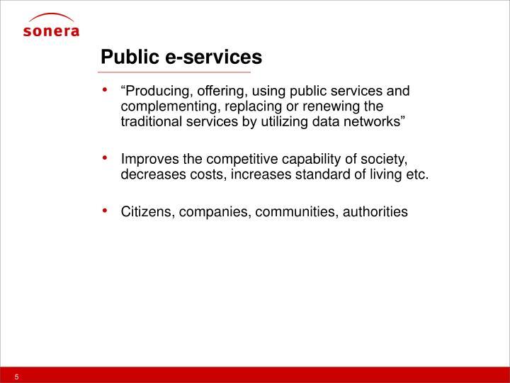 Public e-services