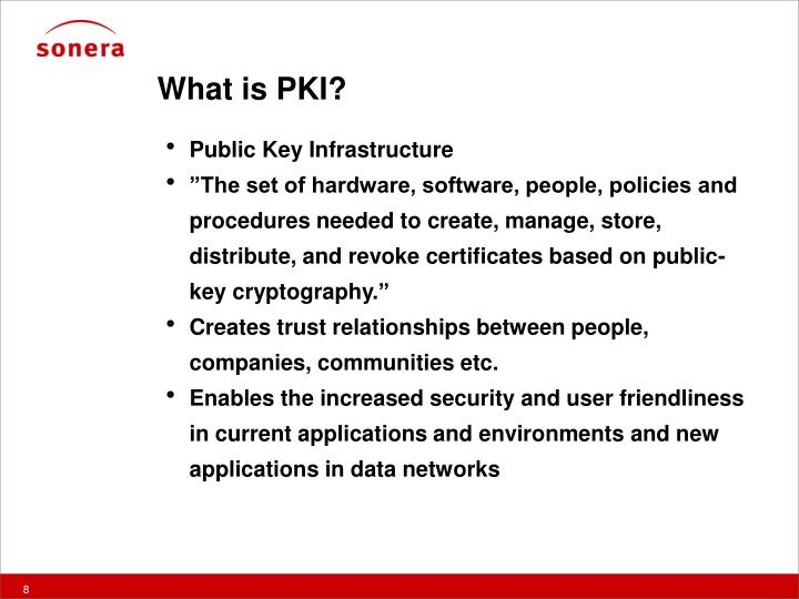 What is PKI?