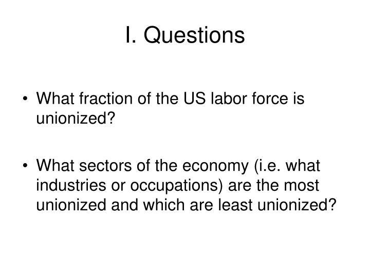 I. Questions