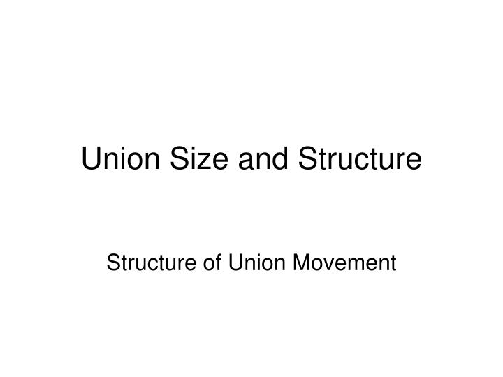 Union Size and Structure
