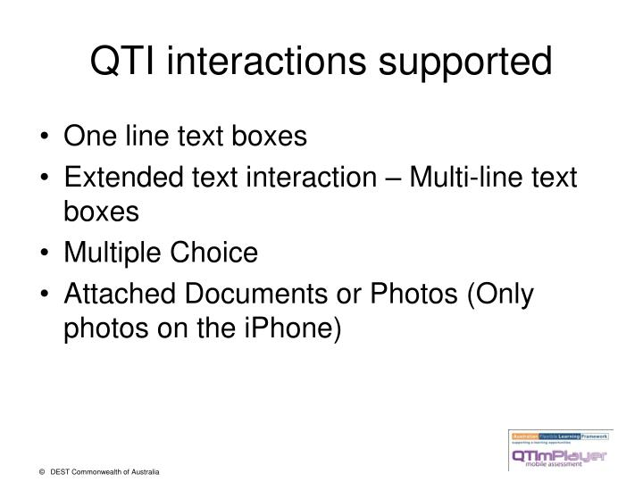 QTI interactions supported