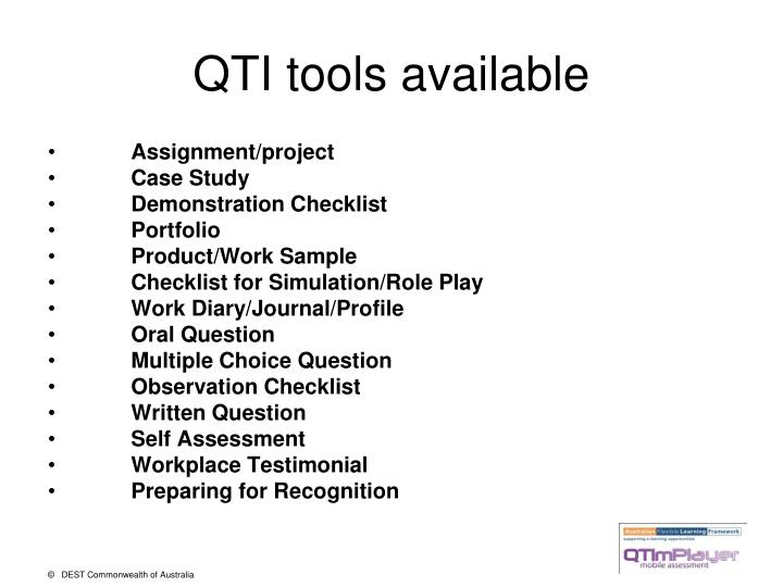 QTI tools available
