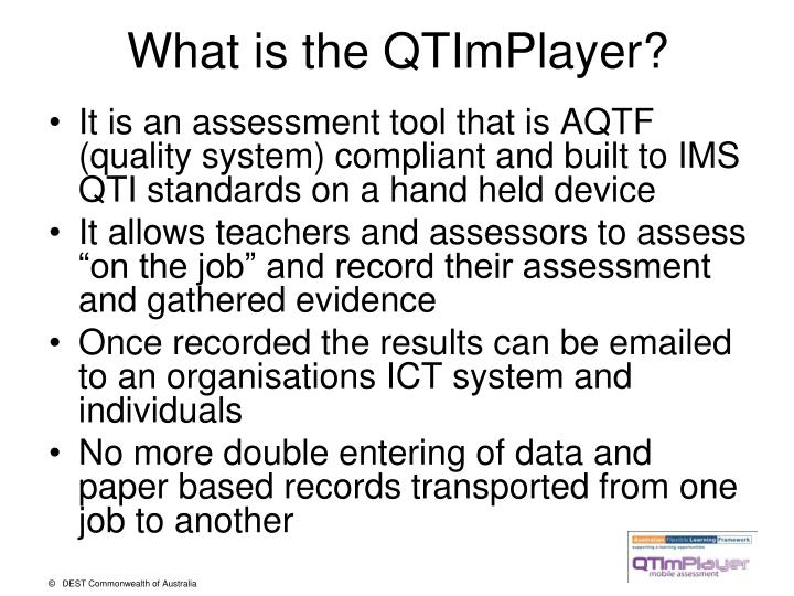 What is the QTImPlayer?