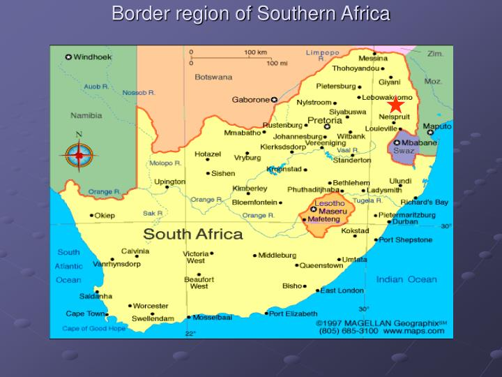 Border region of Southern Africa