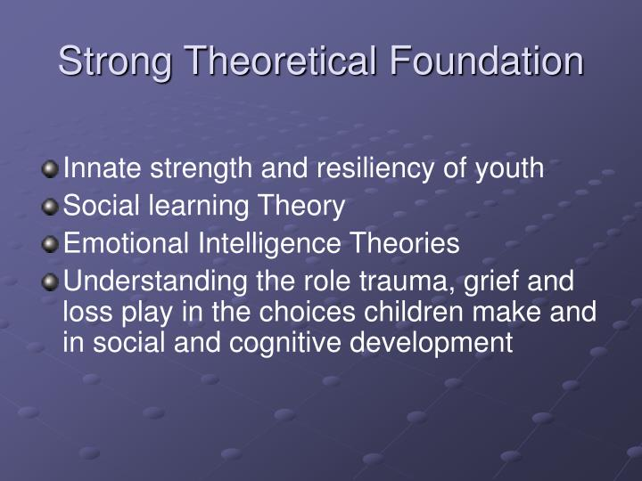 Strong Theoretical Foundation