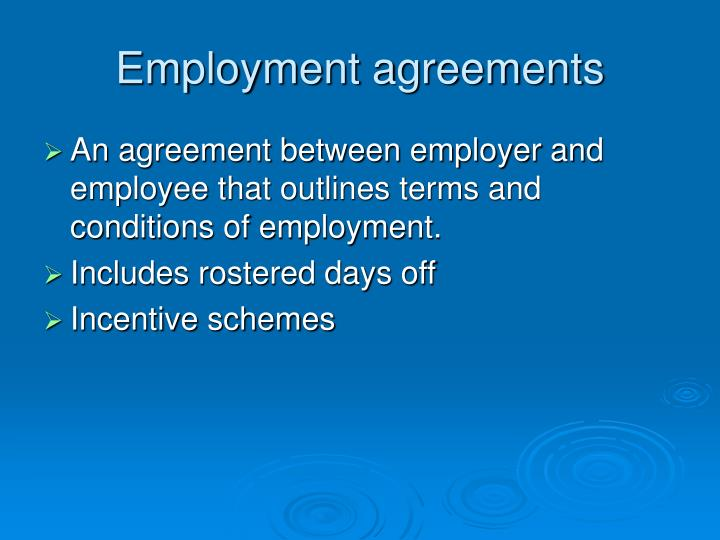Employment agreements