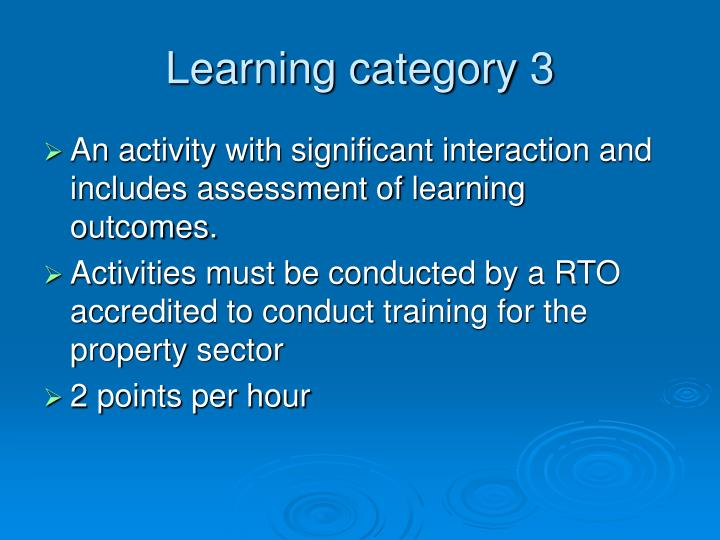 Learning category 3