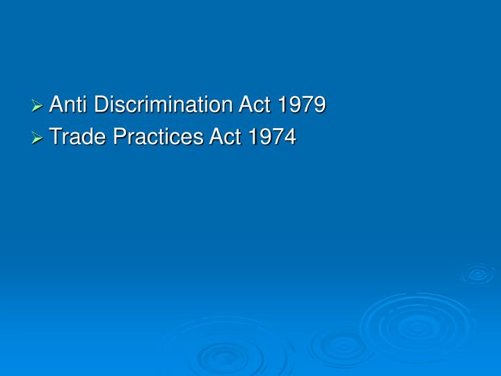 Anti Discrimination Act 1979