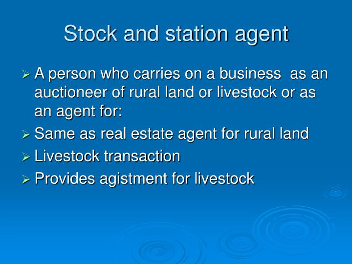 Stock and station agent