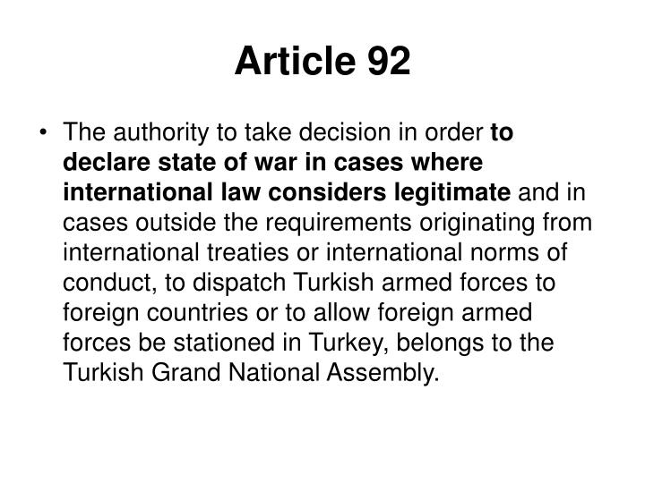 Article 92