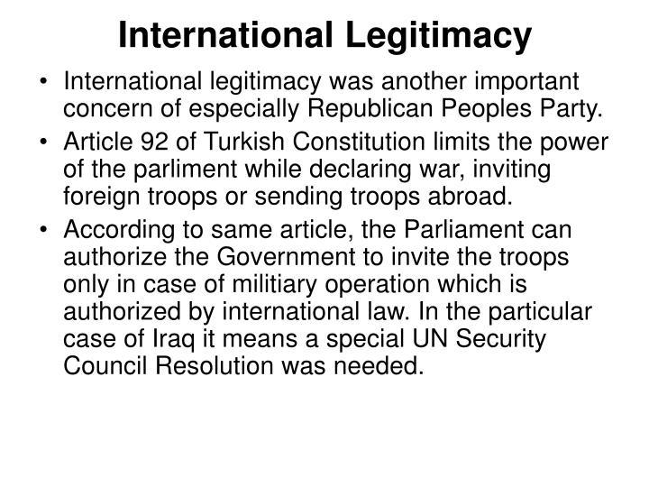 International Legitimacy