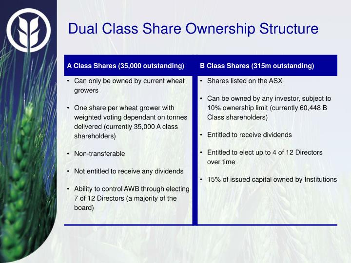 Dual Class Share Ownership Structure