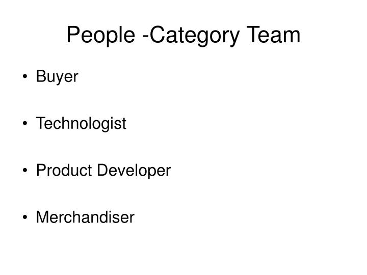 People -Category Team