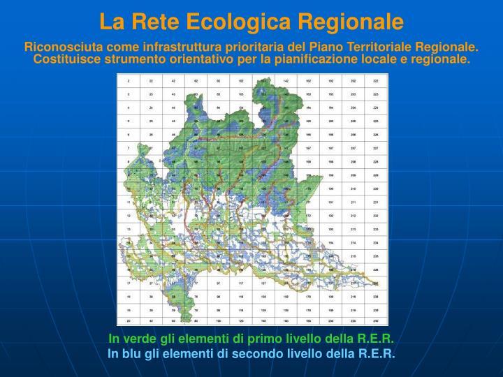 La Rete Ecologica Regionale
