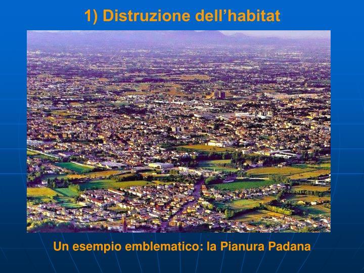 1) Distruzione dell'habitat