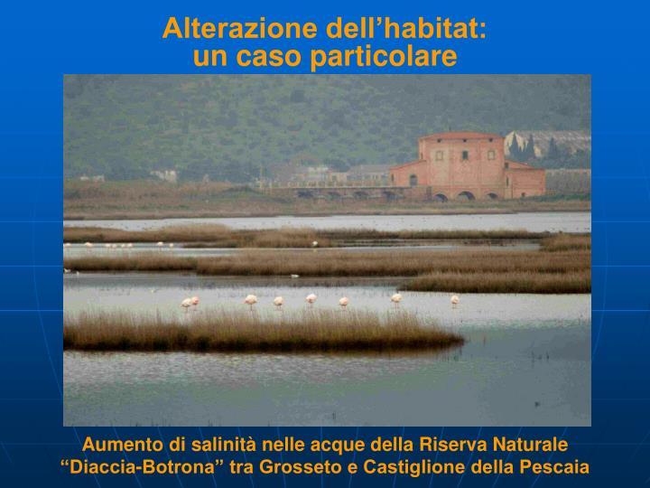 Alterazione dell'habitat: