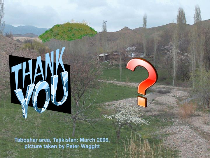 Taboshar area, Tajikistan: March 2006, picture taken by Peter Waggitt