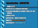 introduction asbestos