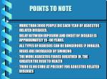 points to note