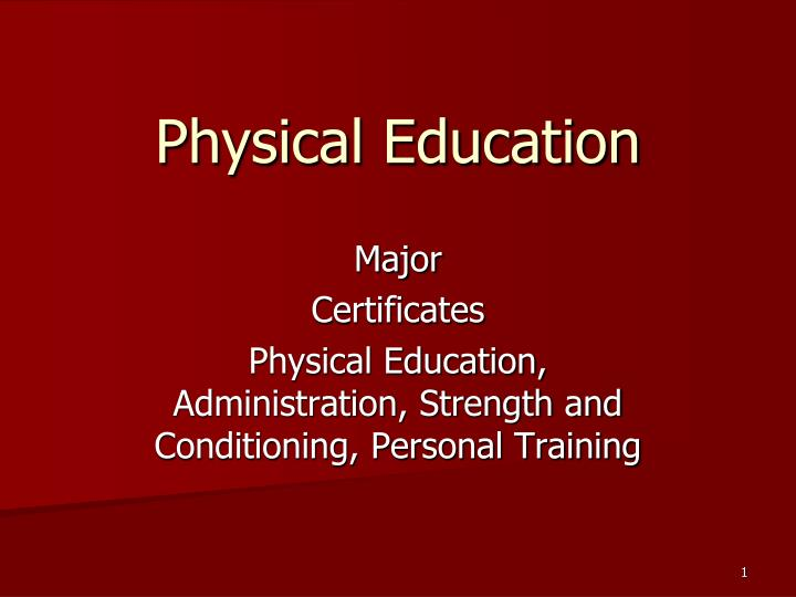 physical education n.