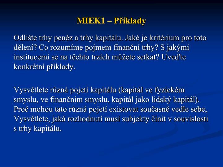 Miek1 p klady