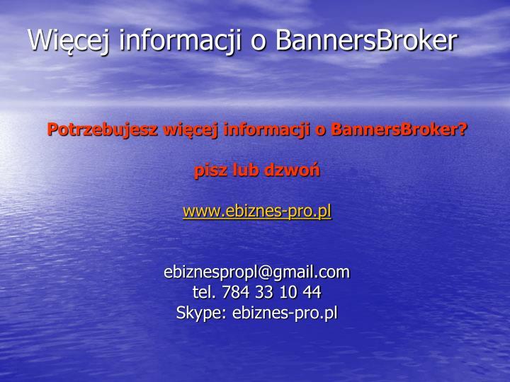 Więcej informacji o BannersBroker