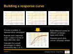 building a response curve